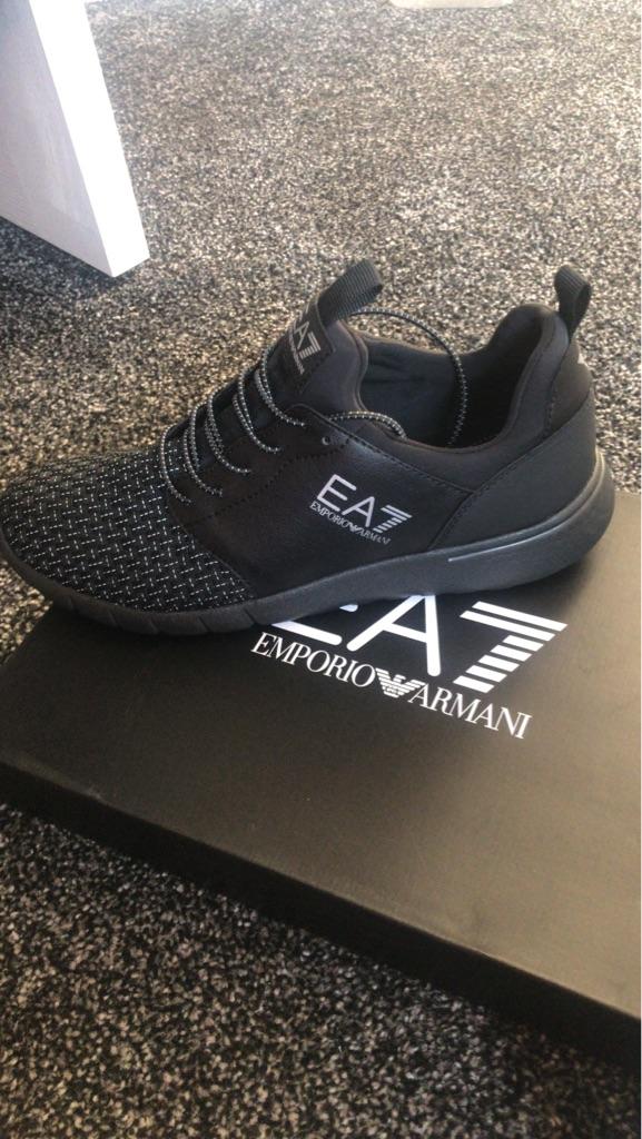 Armani men trainers size 8