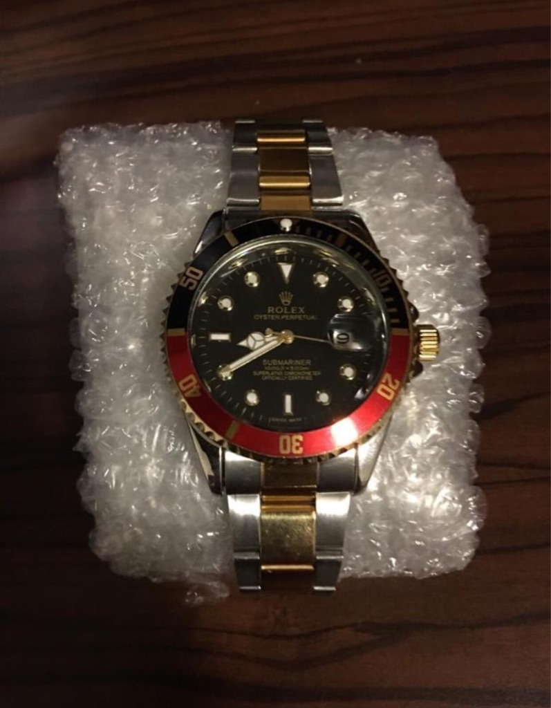 Rolex Oyster Perpetual Submariner Red/Gold