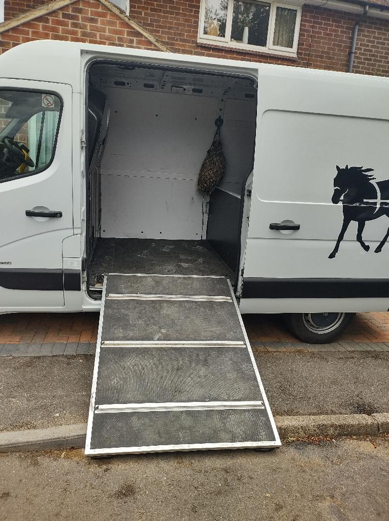 Horse box ramp