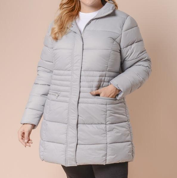 Woman's jacket puffer coat size Large Xlarge & XXLarge Grey And Blue