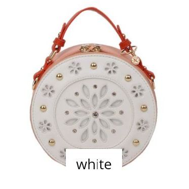 White handbag nicole lee floral