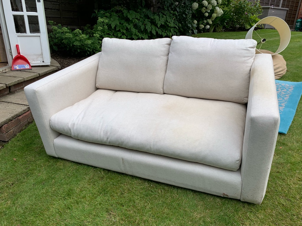 2 seater linen cotton sofa
