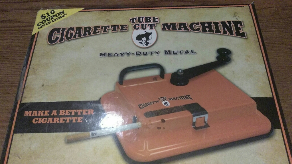 Cigarette cut machine tube