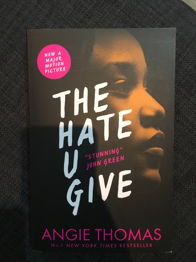 The hate you give book by angie Thomas