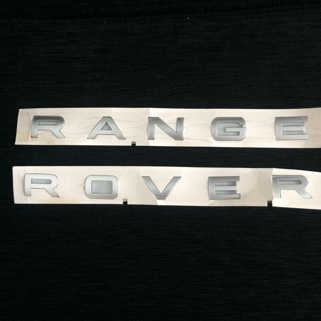 Range rover letter metal sticker logo