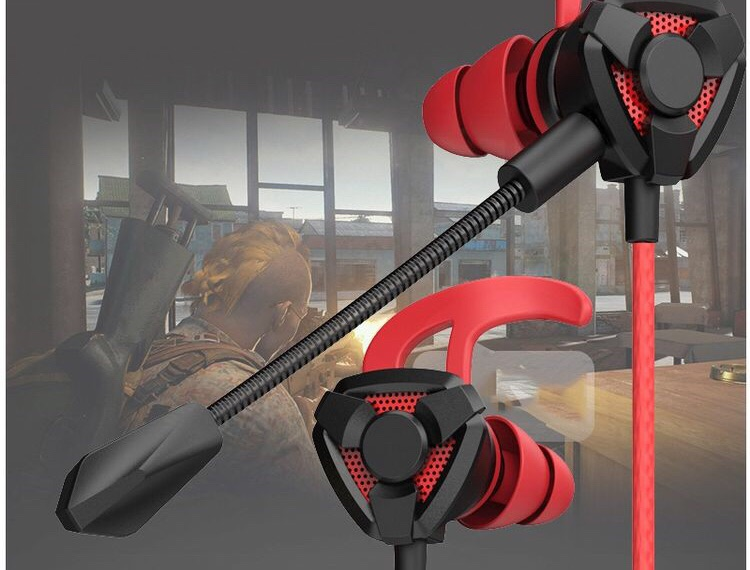 Gaming earphones with detachable mic