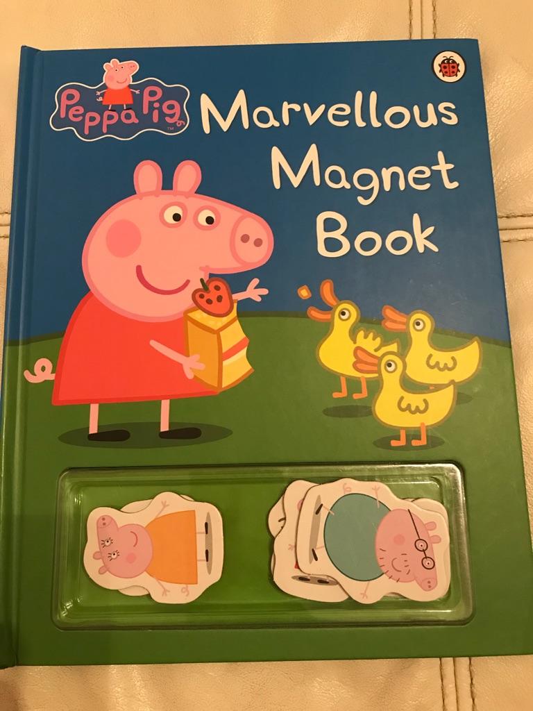 Brand new unused peppa pig magnet book