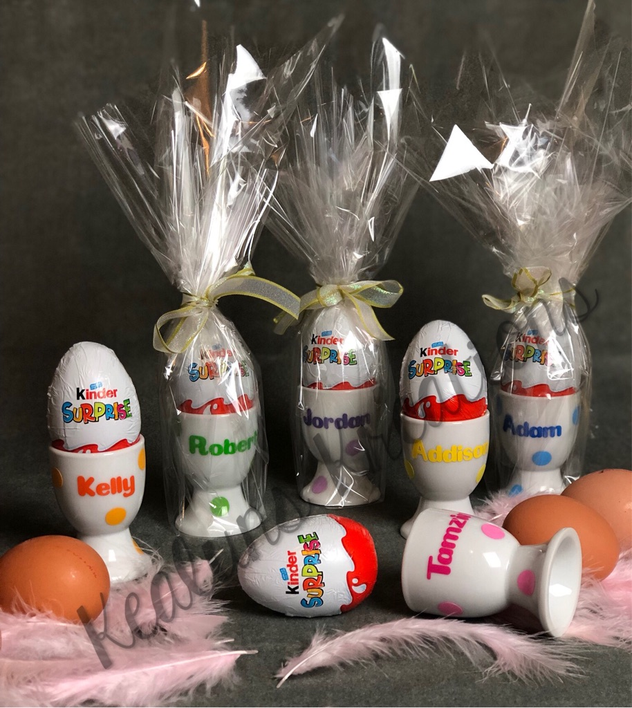 Personalised estate egg cups