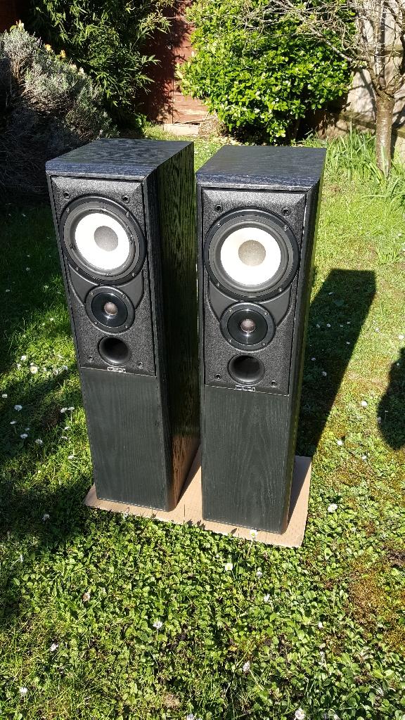 Mission 702e floorstanding speakers refurbished and sound fantastic
