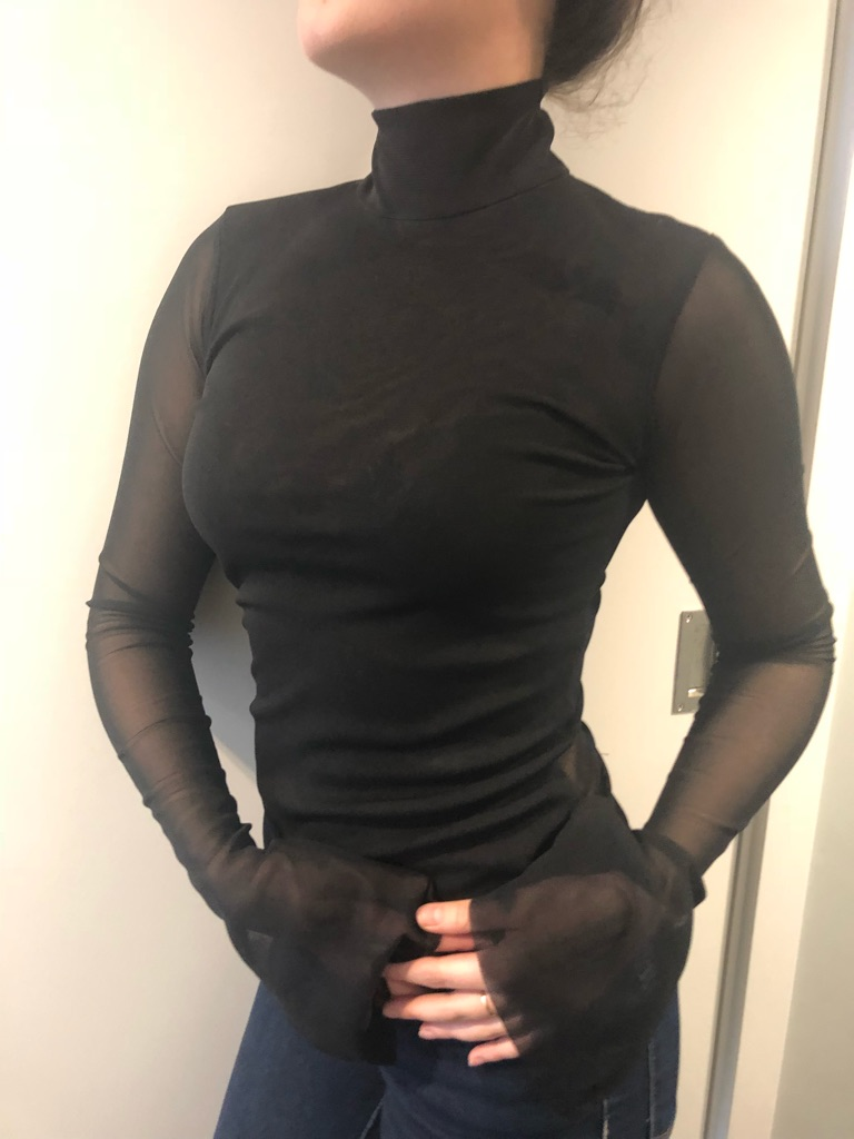 Zara Black Transparent Blouse