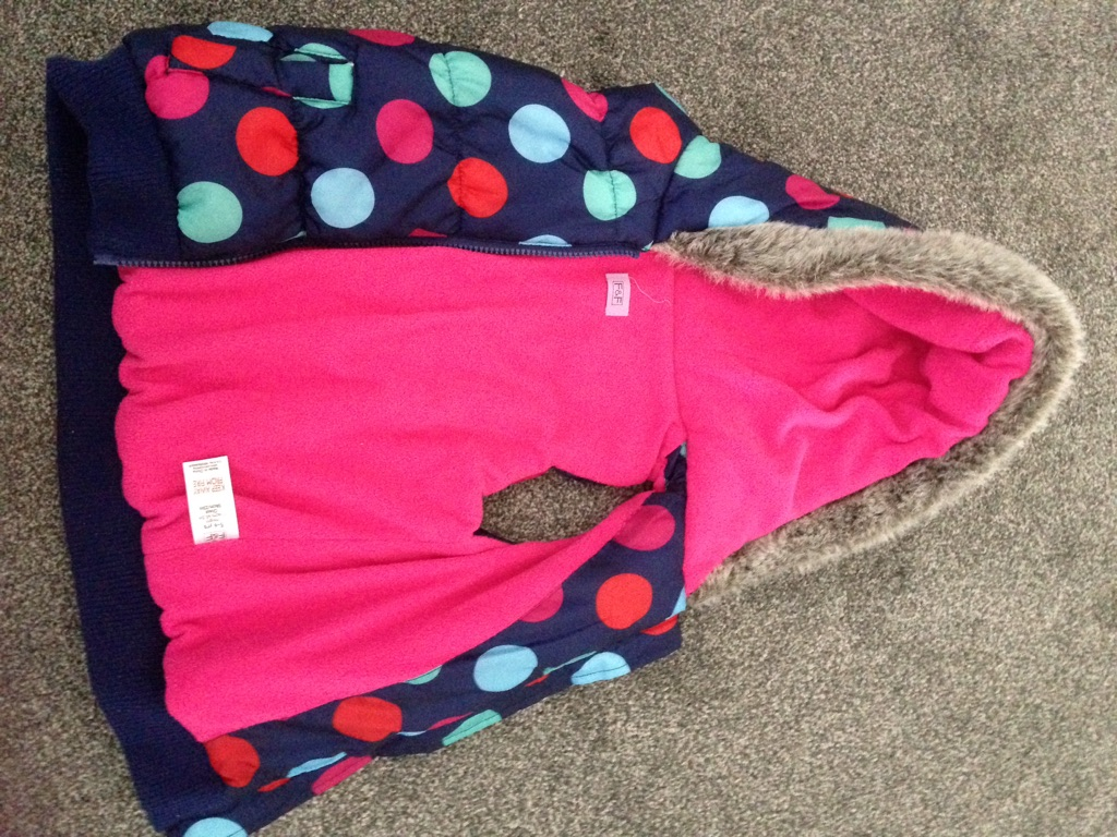 Girls padded body warmer 5-6 yrs