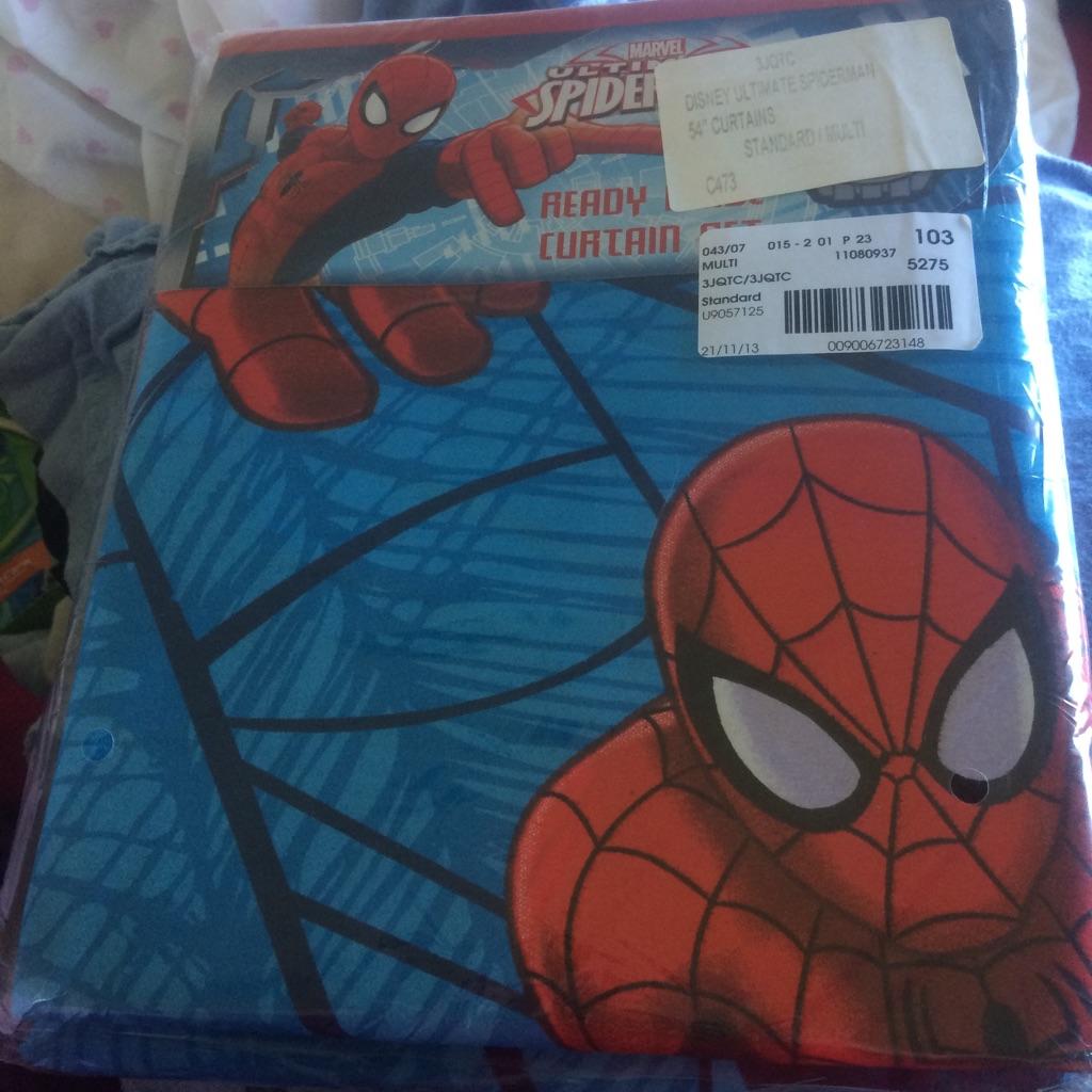 Spider man curtains