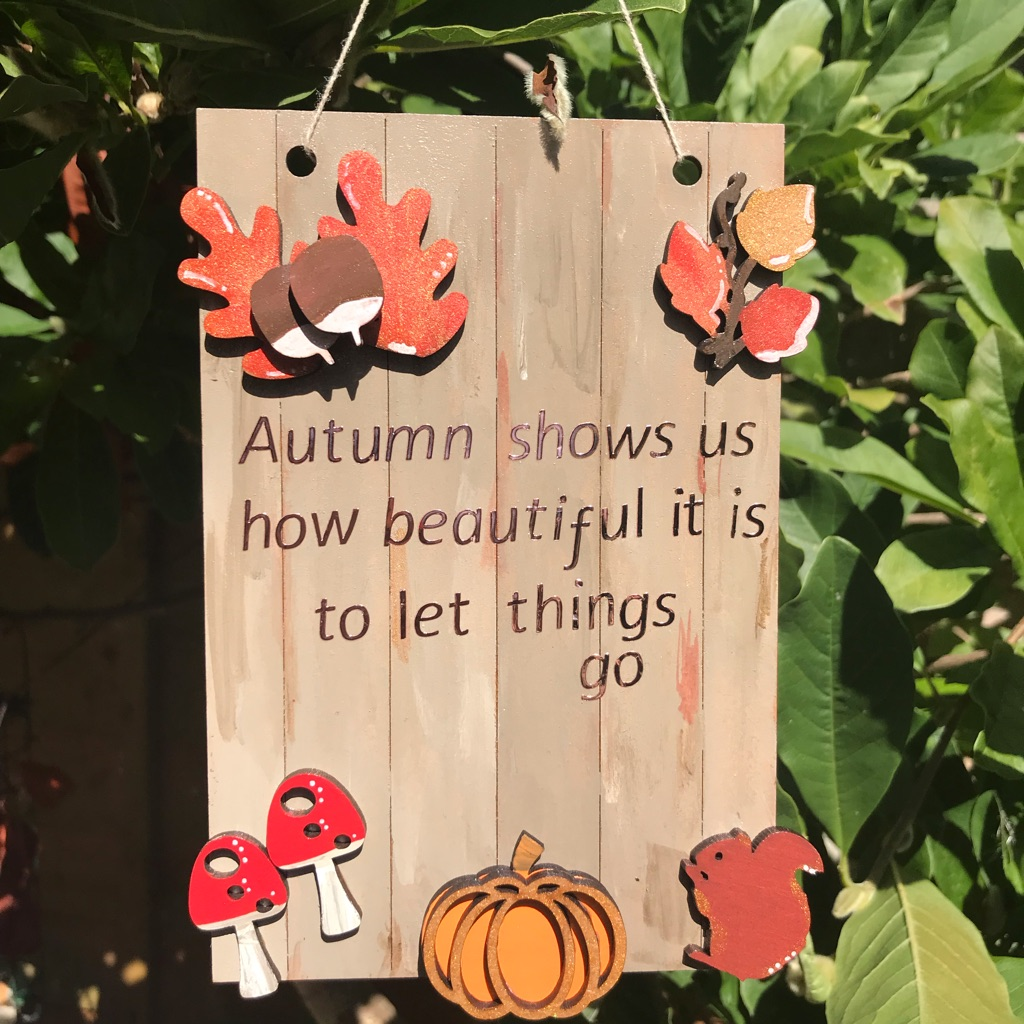 Small autumn plaque