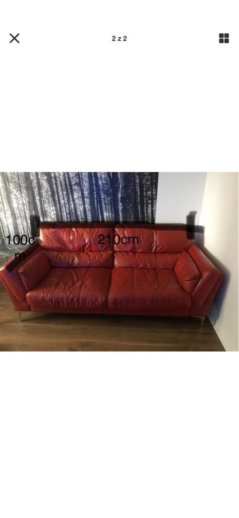 leather sofa with armchair