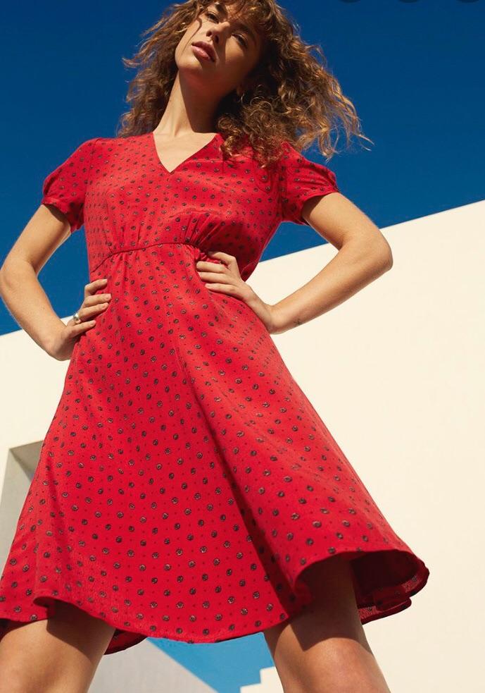 Dress Jigsaw African spot tea dress