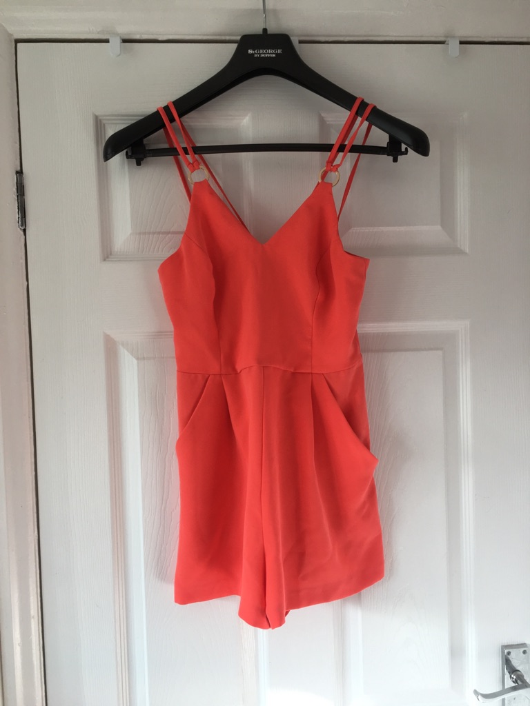 Coral Playsuit Size 6 New Look Excellent Condition