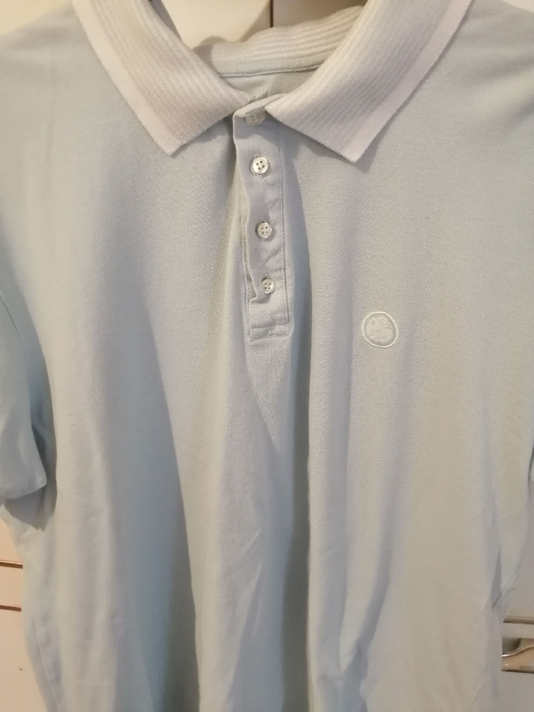 Pretty grean sky blue polo shirt size large
