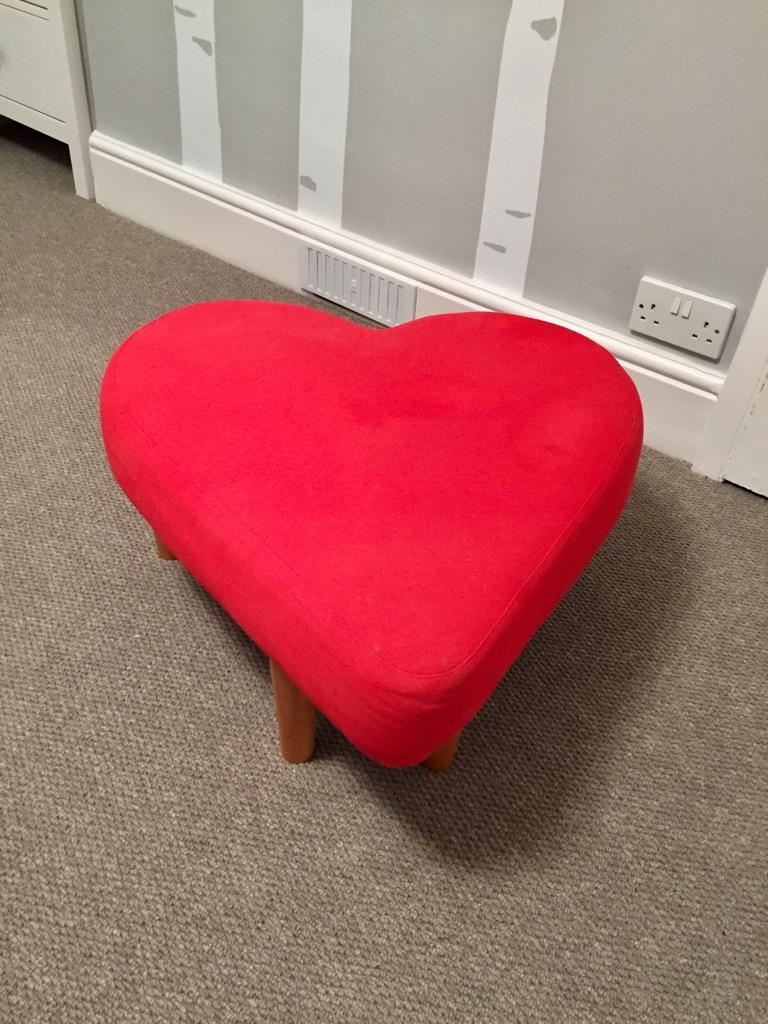 Heart seat/ footstool