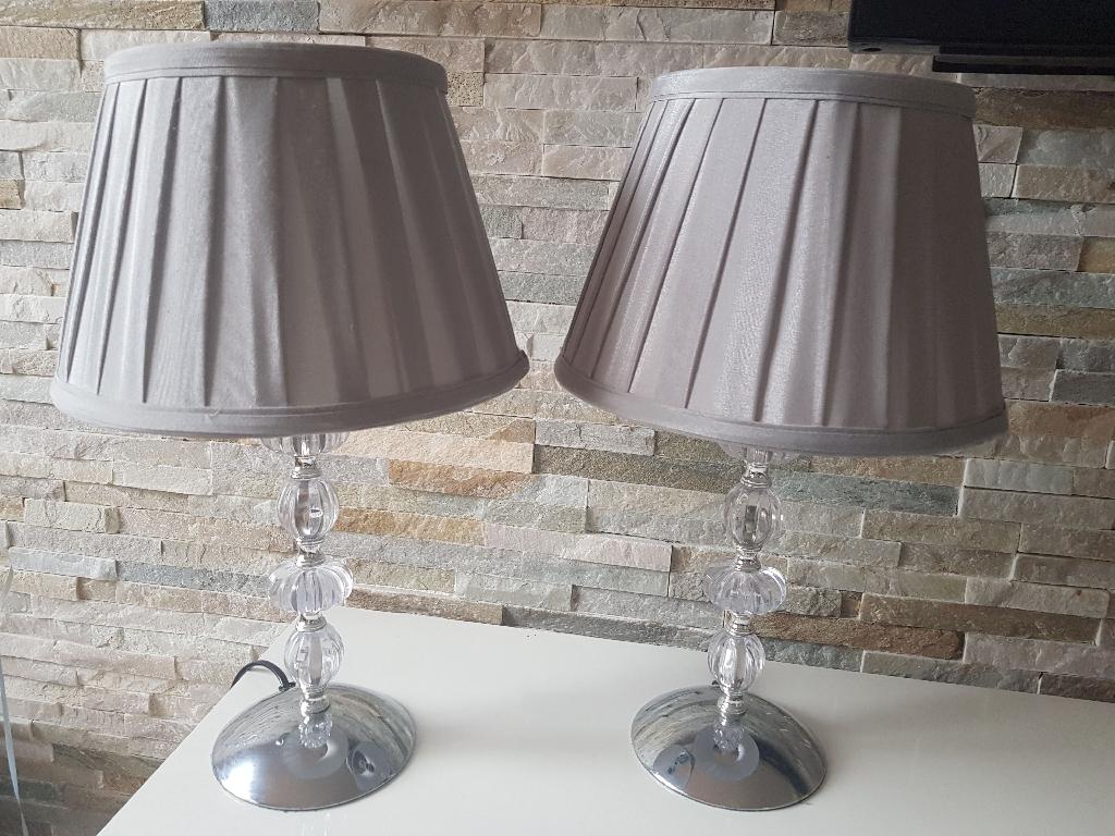 Grey Table Lamp set