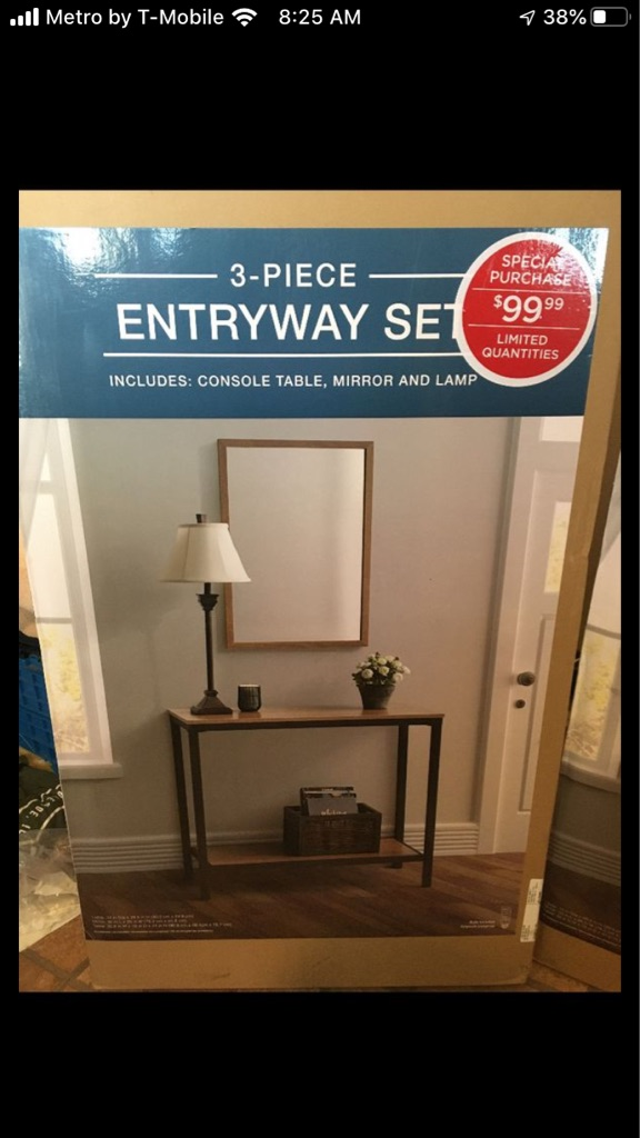 3 piece entryway set