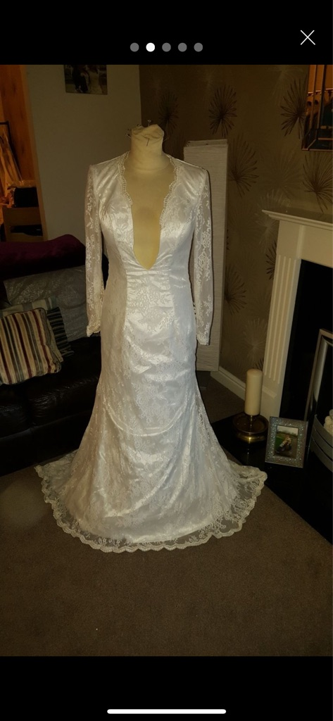 Size 10 open back wedding dress