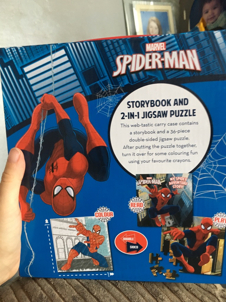 Spider-Man puzzle and storybook