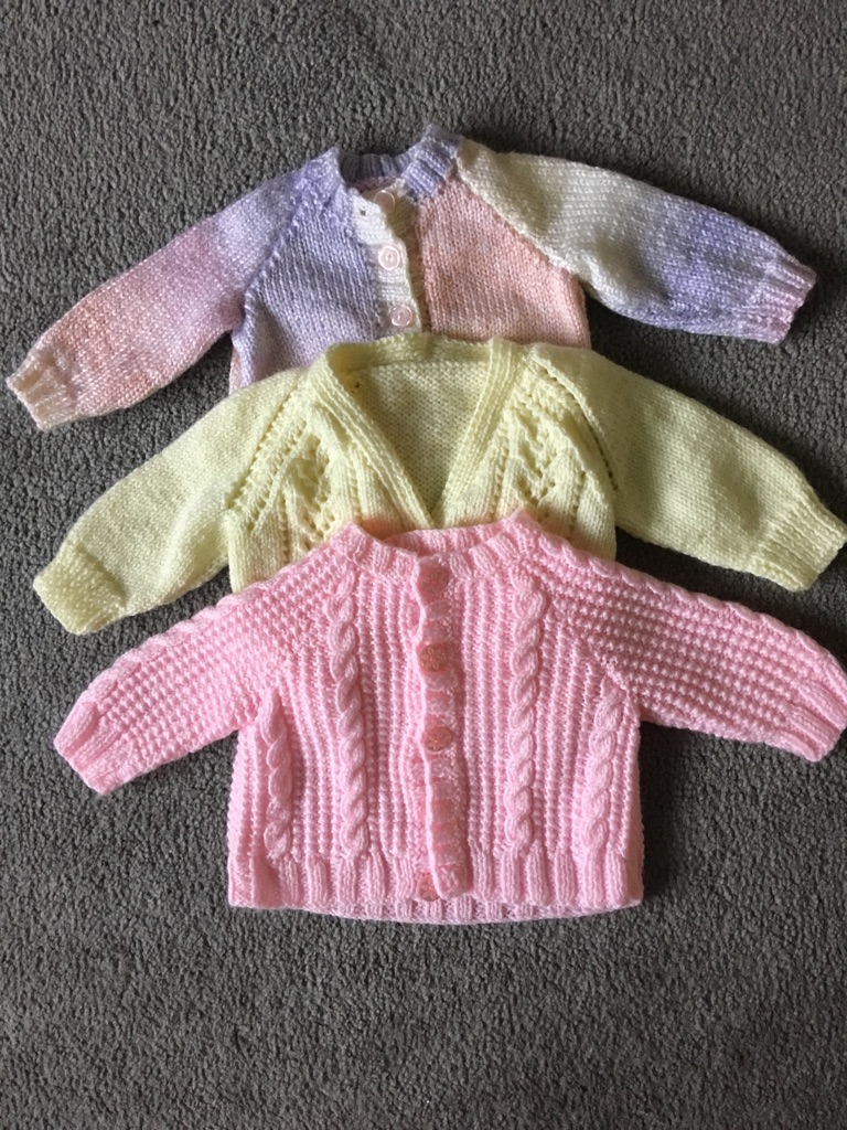 Baby girl hand knitted items