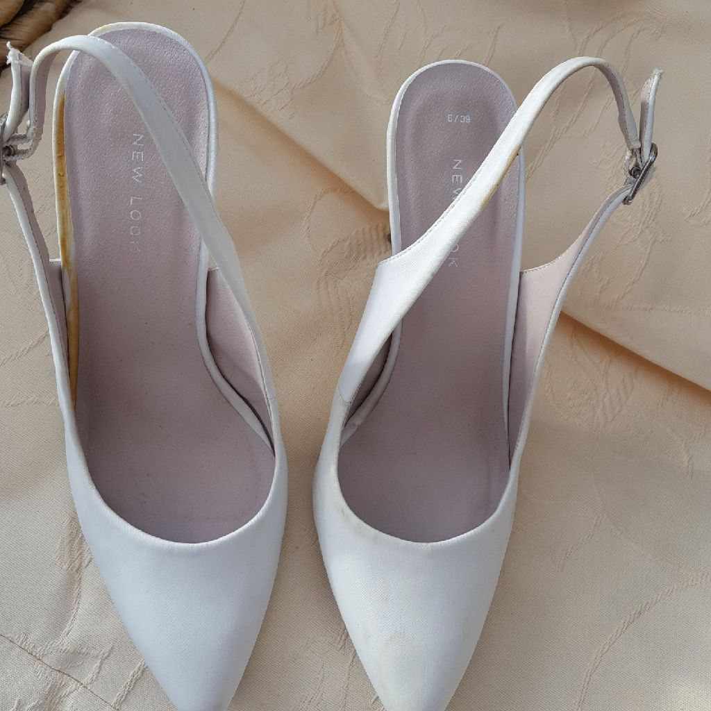 White satin shoes vgc bargain no time wasters please