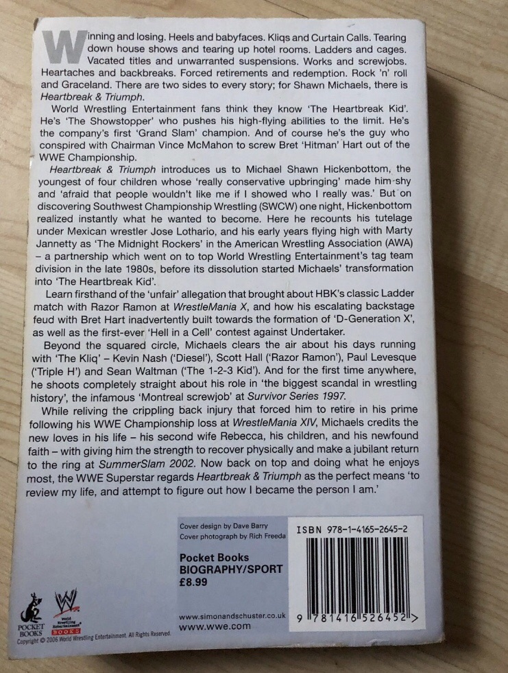 Shawn Michaels Autobiography