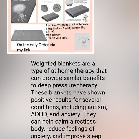 🛌🏻Premium Weighted Blanket Sensory Sleep Reduce Anxiety Cotton 3kg 💥£44.99 🚚Free delivery. 💥15% off your order.