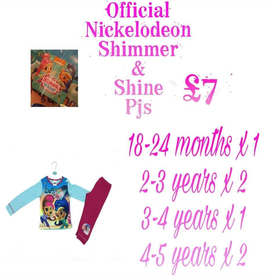 Official Nickelodeon shimmer and shine pjs