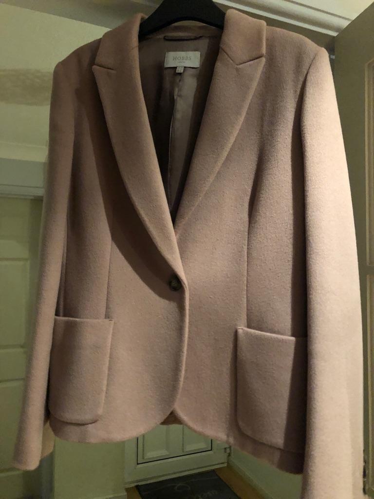 Hobbs Dusky Pink Jacket Size 14