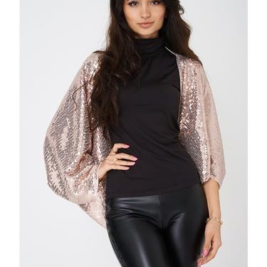 Pink sequin cape