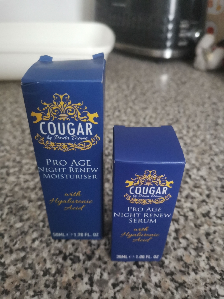 Cougar nights serum and moisturiser