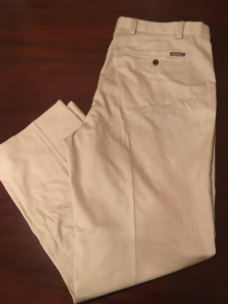 Men's Flat Front Khakis, Size 38X30