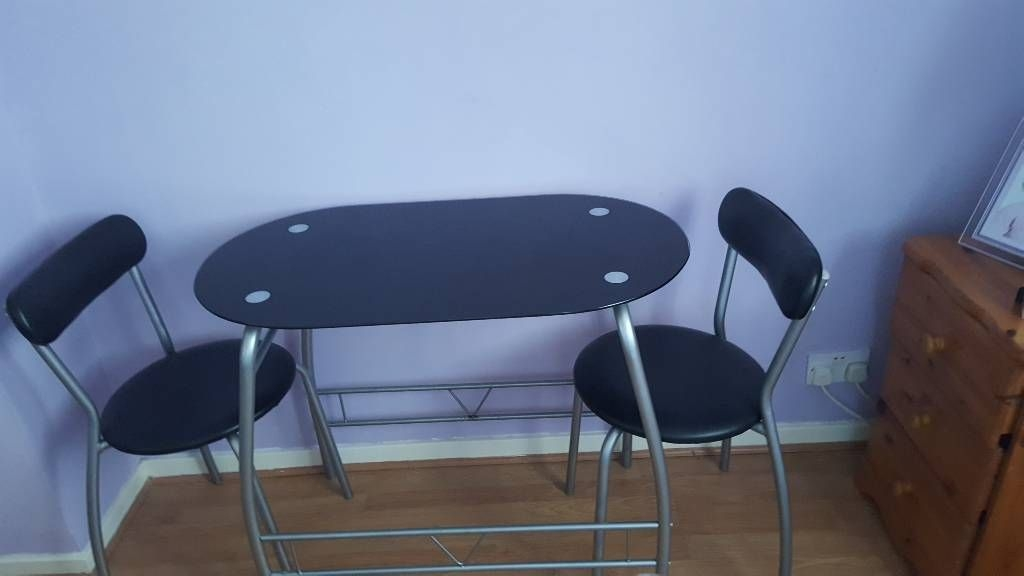 Argos glass 2 seat dining table