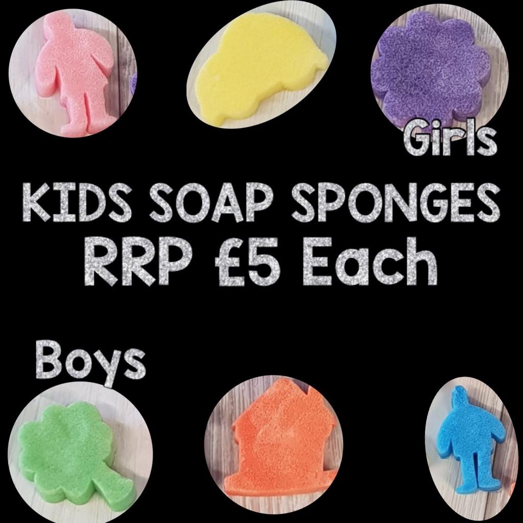 Kids soap sponges