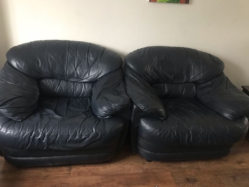 One seater leather sofas