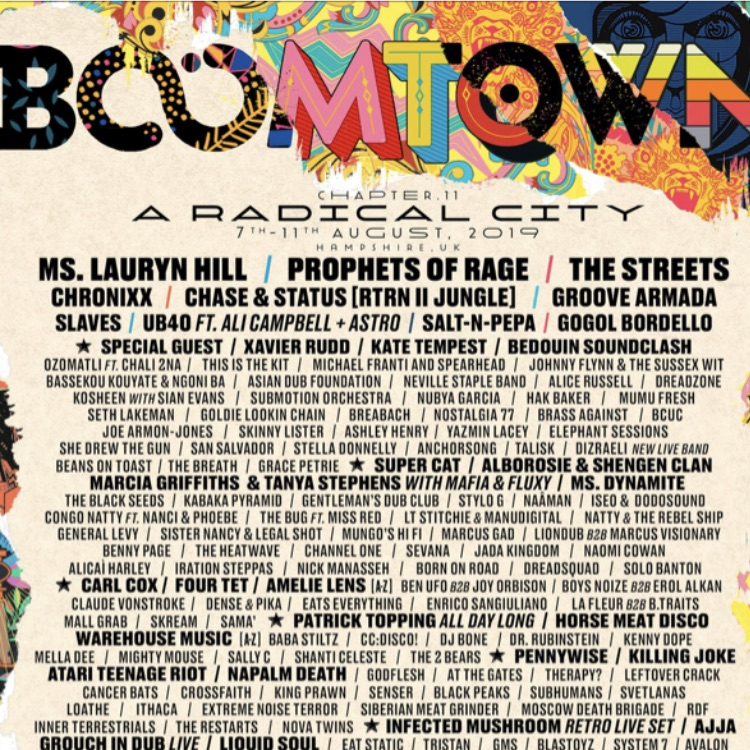 BoomTown festival 7-11 Aug 2019