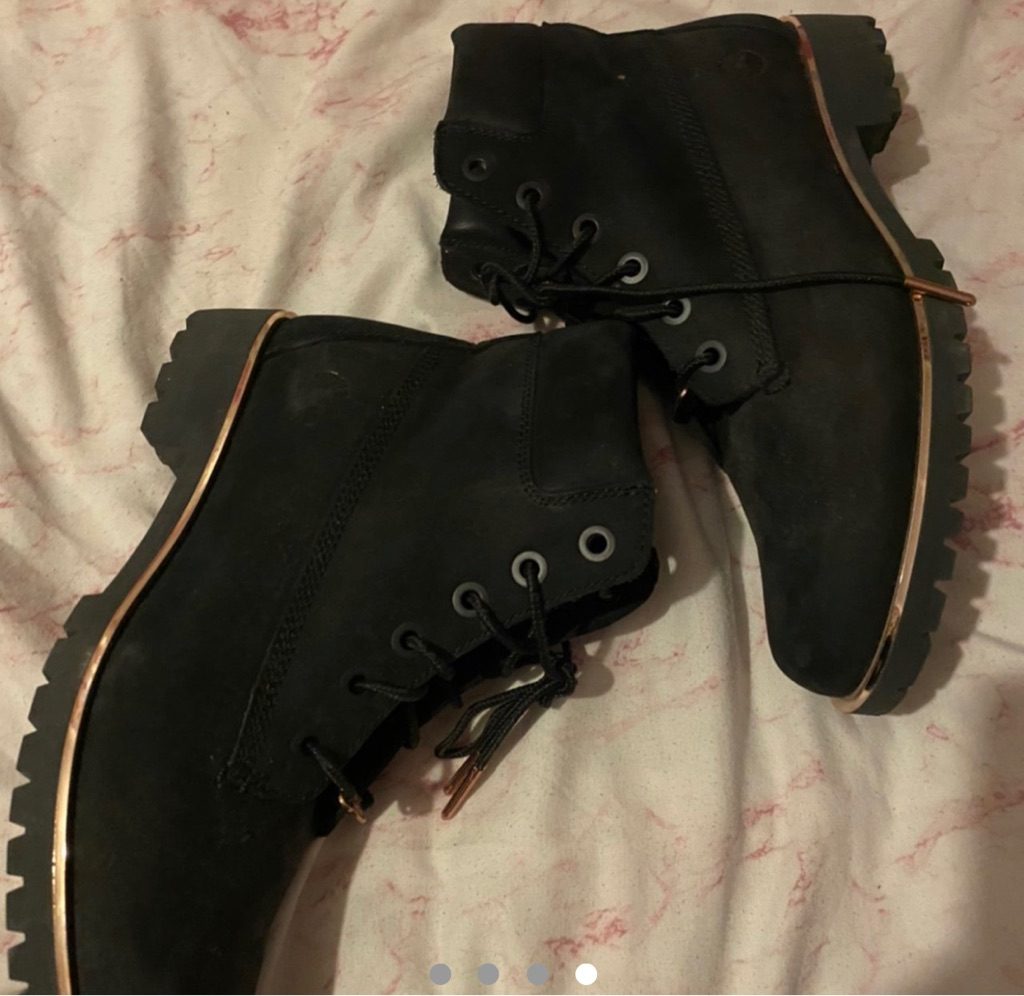 Black Rose Gold Timberland Boots