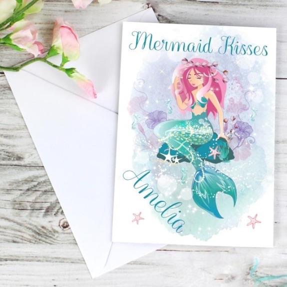 Personalised 'mermaid' greeting card
