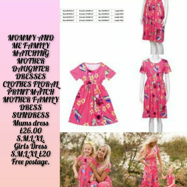 MOMMY AND ME FAMILY MATCHING MOTHER DAUGHTER DRESSES CLOTHES FLORAL PRINT MATCH MOTHER FAMILY DRESS SUNDRESS