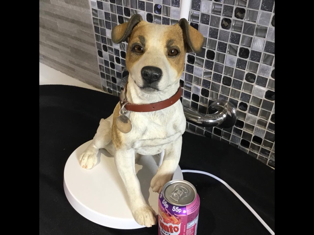 Lovely dog lamp