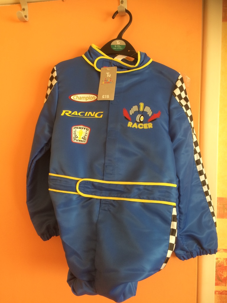 Child's Racing Driver Outfit - age 9-10
