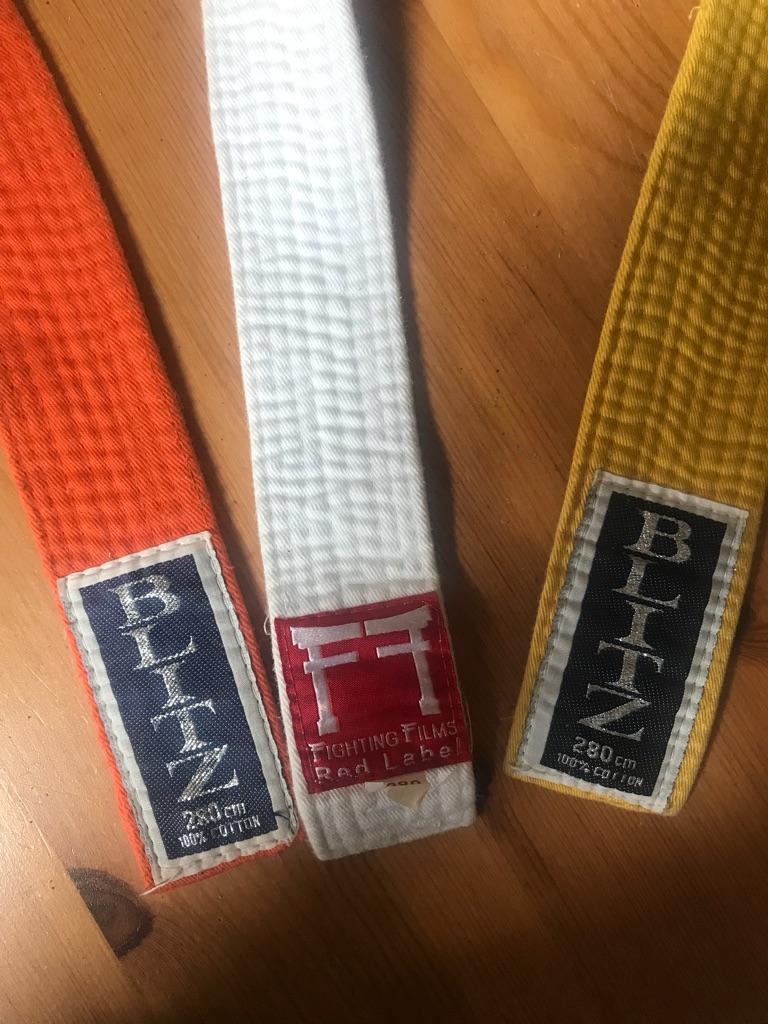 Karate grading belts