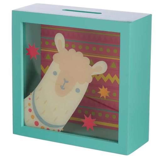 See your savings money box- Llama design