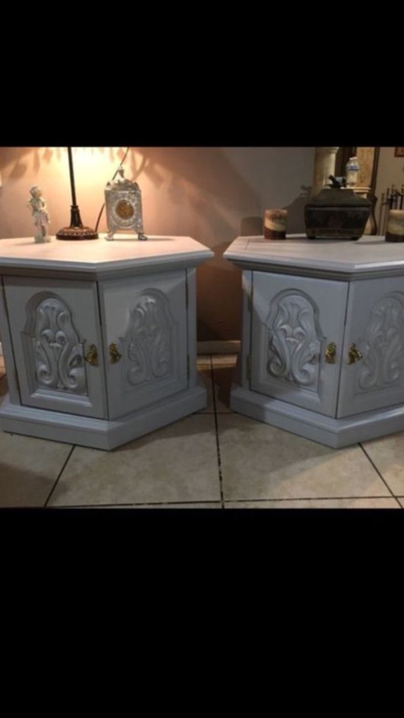 Vintage 1968 nightstands with a modern touch
