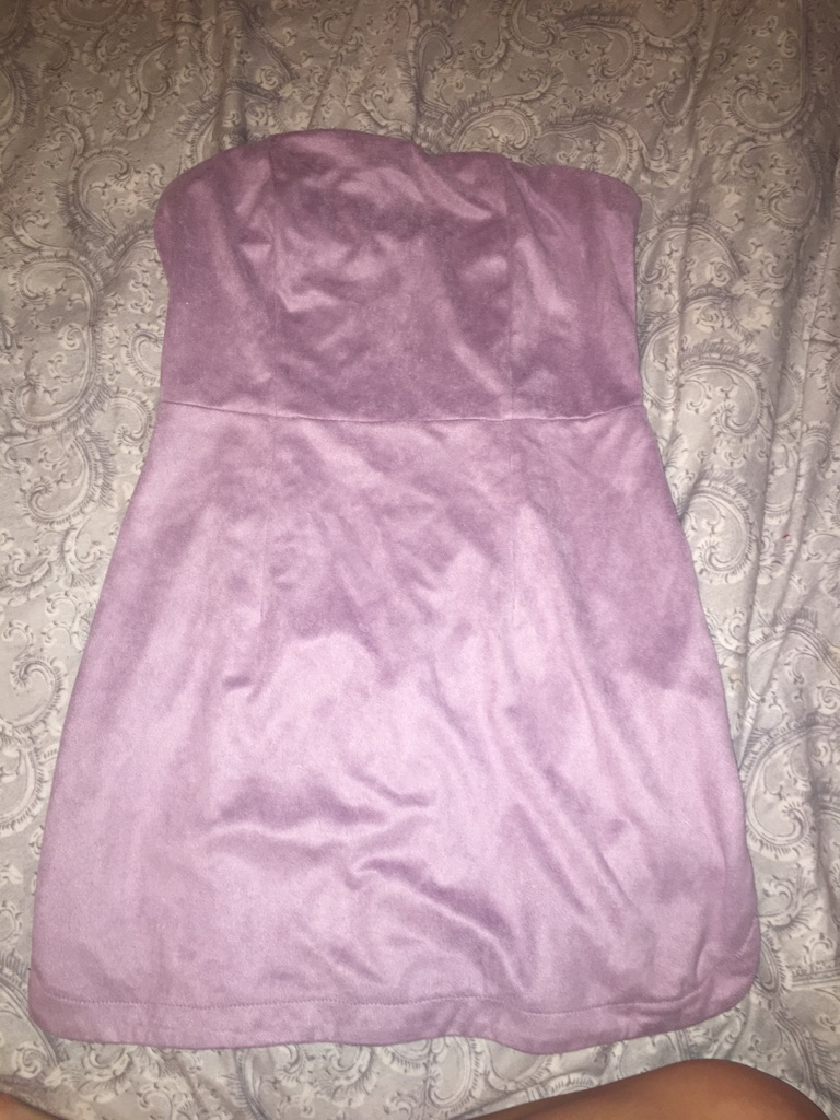 Pretty Little Thing Suede Lilac Dress