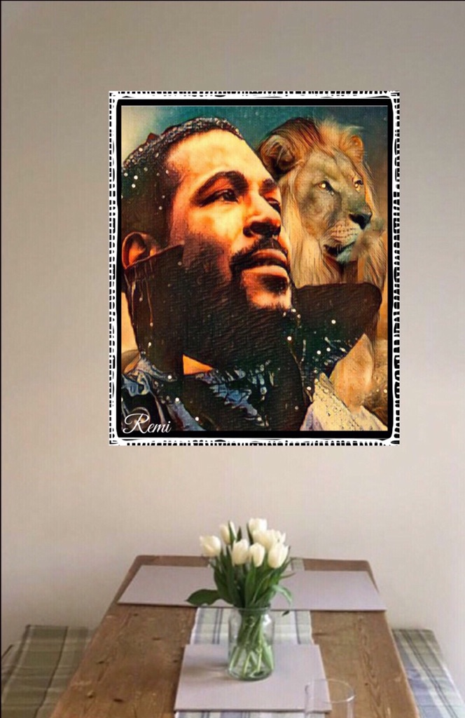 Marvin Gaye Canvas print wall hanging for your wall space ready to display