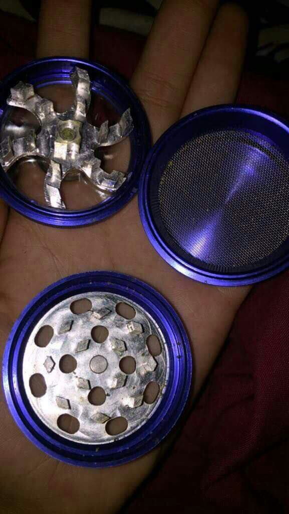 Blue grinder